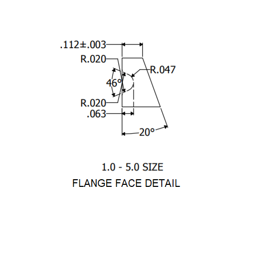 "1"" Flange Face Detail"