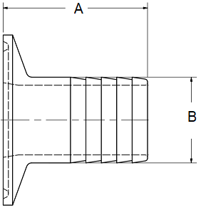 Tri-Clamp Hose Barb Dimensions