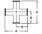 Sanitary Clamp Cross Dimensions