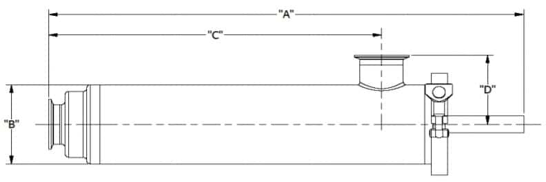 Angle Line Strainer Dimensions