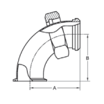 Tri Clamp x Bevel Seat Elbow Dimensions