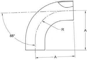 88-Degree Weld Elbow Dimensions